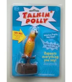 Papoušek opakuje zaznamenanou zvukovou sekvenci